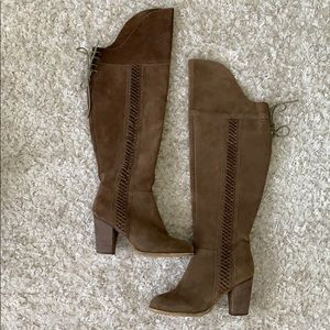 Sbicca Over The Knee Brown Suede Boots